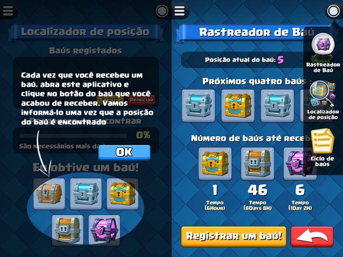 rastreador-de-bau-do-clash-royale-1 Clash Royale: Aplicativo ajuda a descobrir a ordem dos baús