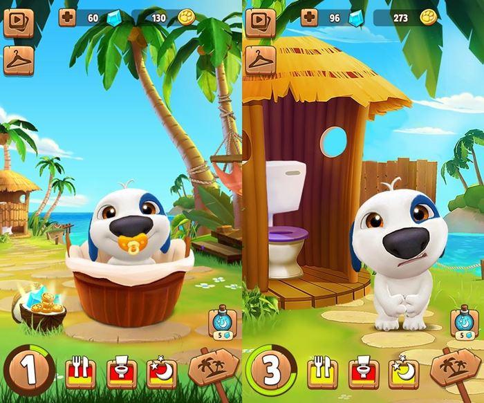 my-talking-hank-jogo-android-baixar-gratis-ios My Talking Hank: cuide de um cachorrinho neste game para Android e iOS