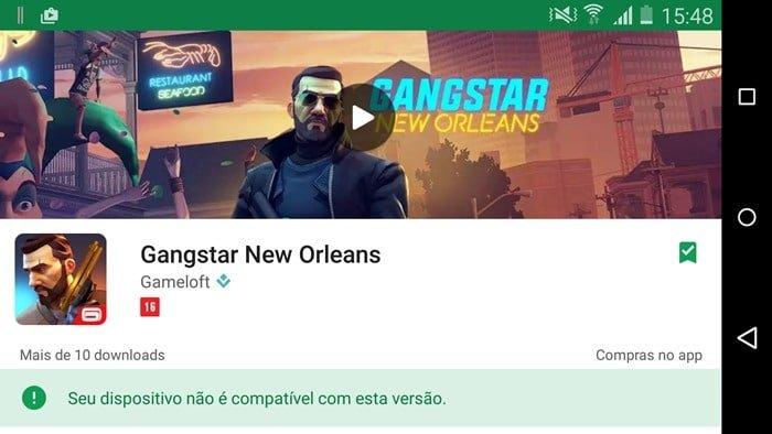 Gangstar-new-orleans-lancament-apk Entenda por que Gangstar New Orleans está incompatível na maioria dos Androids