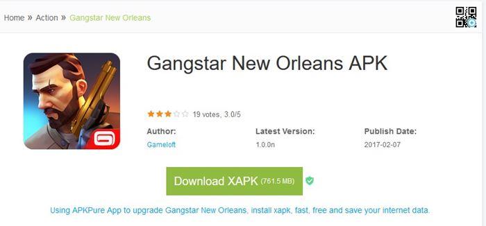 Gangstar New Orleans disponível no APK Pure! Veja como