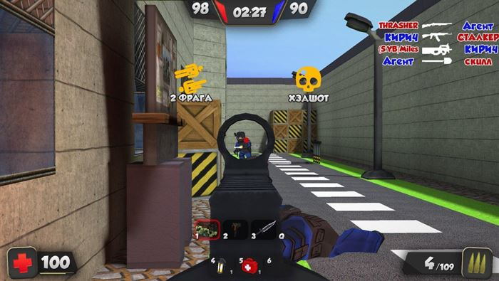 kuboom-android-fps-game Kuboom: FPS online, e bastante leve, para Android
