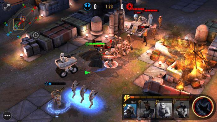star-wars-force-arena-gameplay-android 25 Melhores Jogos Grátis para iPhone e iPad de 2017  - 1° semestre