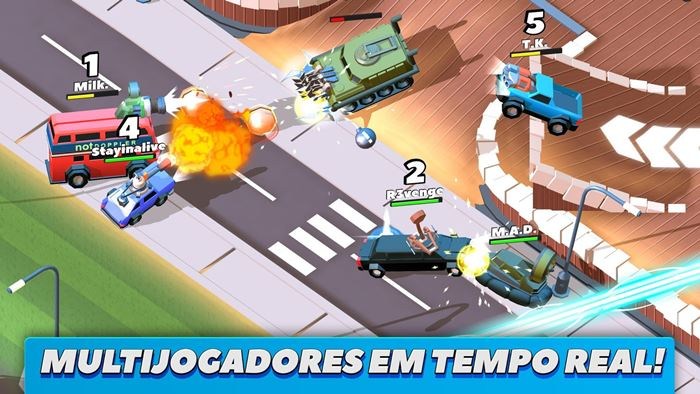 crash-on-cars-android-iphone-1 Crash on Cars: detone outros jogadores em arenas multiplayer