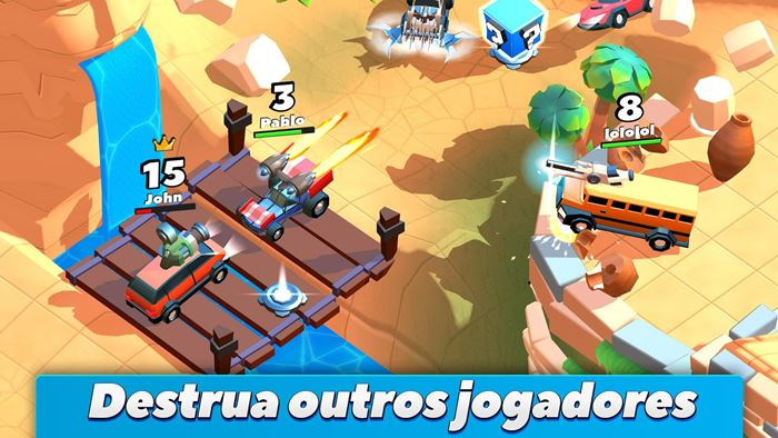 crash-on-cars-android-iphone-2 Crash on Cars: detone outros jogadores em arenas multiplayer
