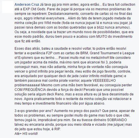 "relato-abandono-hearthstone O ""Apagão"" de Hearthstone no Brasil"