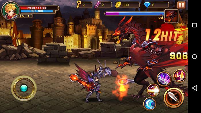 brave-fighter-2-android-ios-2 Brave Fighter 2 é uma aventura offline para quem curte cavaleiros e dragões