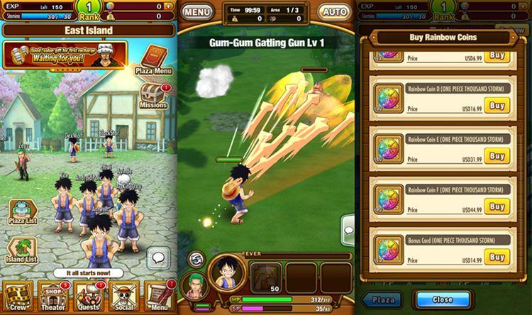 One-Piece-Thousand-Storm 25 Melhores Jogos Grátis para iPhone e iPad de 2017  - 1° semestre