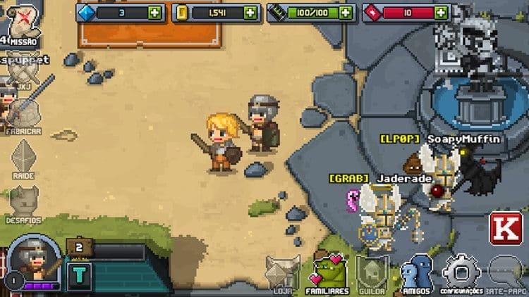 """bit-heroes-android-ios-game-2 Bit Heroes é um RPG Online em português com visual ao estilo """"Tibia"""""""