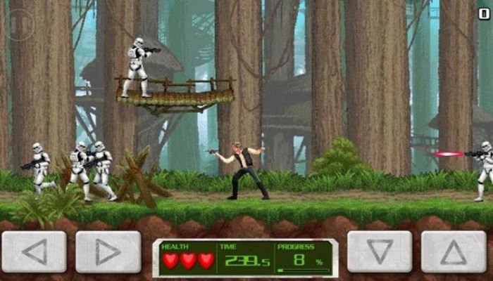 "star-wars-mini-game-han-solo-contra Star Wars: Force Collection vai ganhar modo de tiro no estilo ""Contra"""