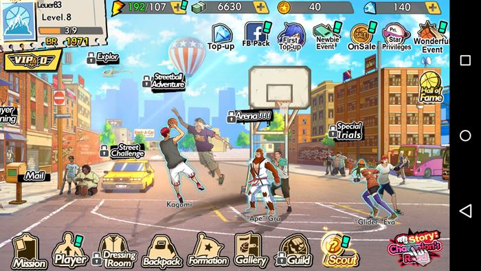 streeball-hero-android-ios-slam-dunk-1 Streetball Hero: jogo de basquete com personagens de animes