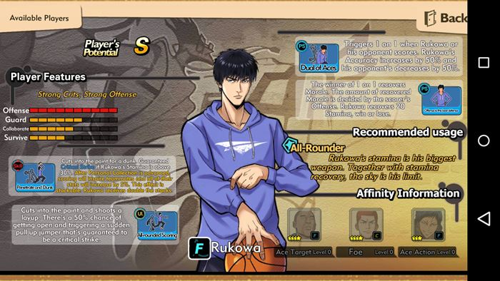 streeball-hero-android-ios-slam-dunk-2 Streetball Hero: jogo de basquete com personagens de animes