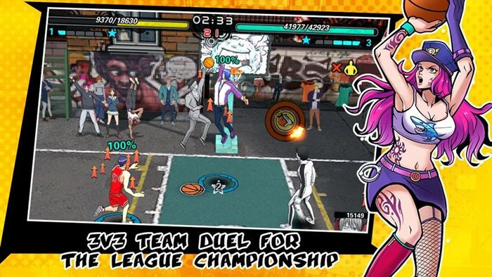 streeball-hero-android-ios-slam-dunk-3 Streetball Hero: jogo de basquete com personagens de animes