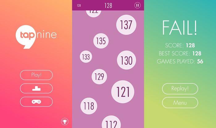 tap-nine-android Tap Nine é um game casual que exige reflexos e olho nos números