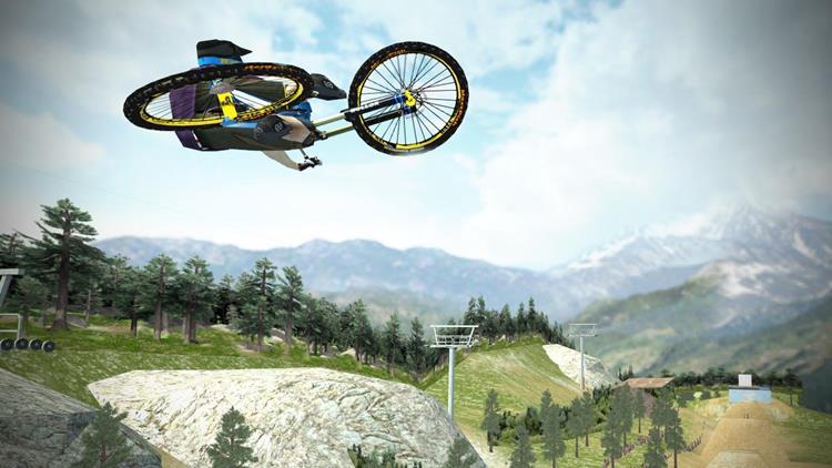 Shred-Downhill-Mountainbiking Melhores Jogos Grátis de Bicicleta para Celular Android (3D e 2D)