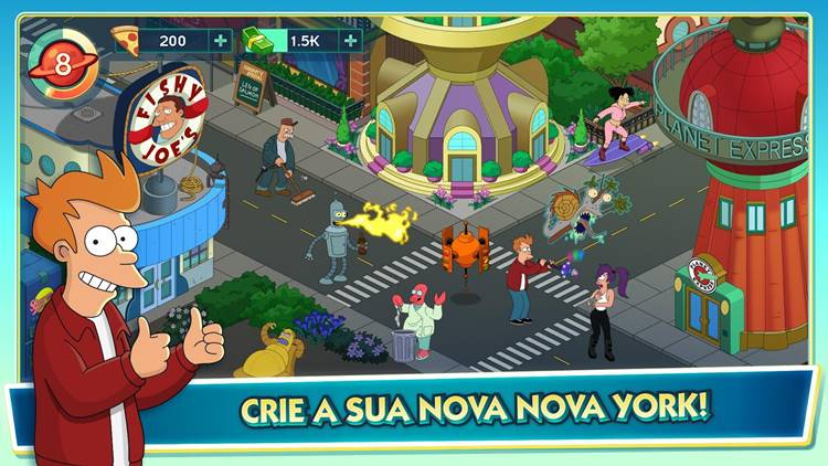 futurama-worlds-of-tomorrow-android-ios-2 Futurama: Worlds Of Tomorrow já pode ser baixado no Android e iOS