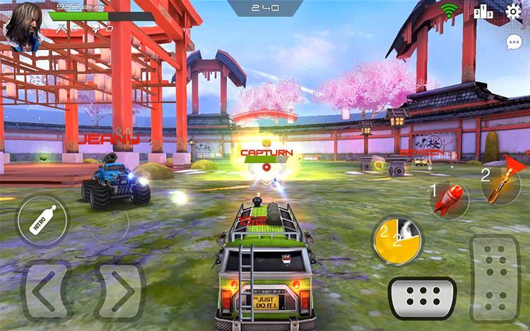 overload-jogo-android-ios Overload é um jogo para Android parecido com Twisted Metal e Vigilante 8