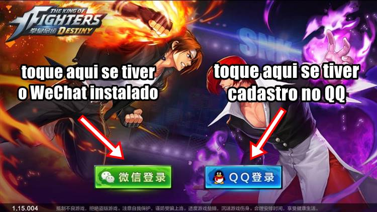 the-king-of-fighters-destiny-como-jogar-android-2 The King of Fighters Destiny para Android em testes, baixe o APK