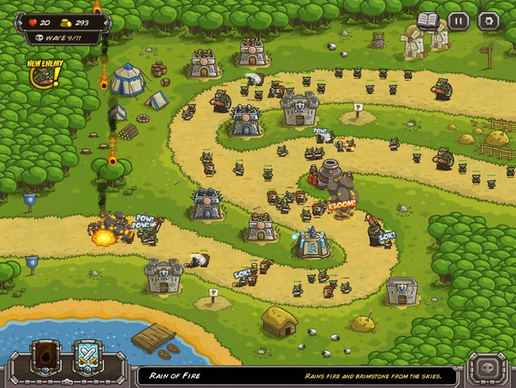 kingdom-rush 25 Melhores Jogos OFFLINE de Estratégia para Android e iPhone