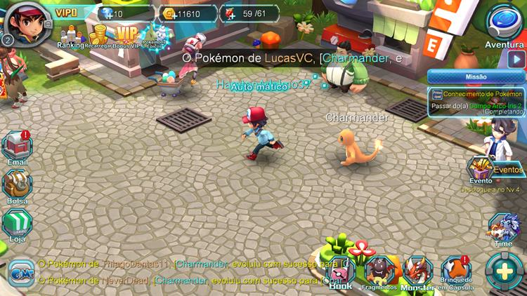 Pocket Conquest: RPG 3D Online de Pokémon e em PORTUGUÊS (Android)