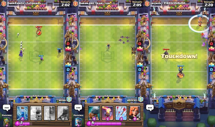 Dicas-modo-touchdown-clash-royale-2 Dicas para Vencer no Modo Touchdown 2v2 de Clash Royale
