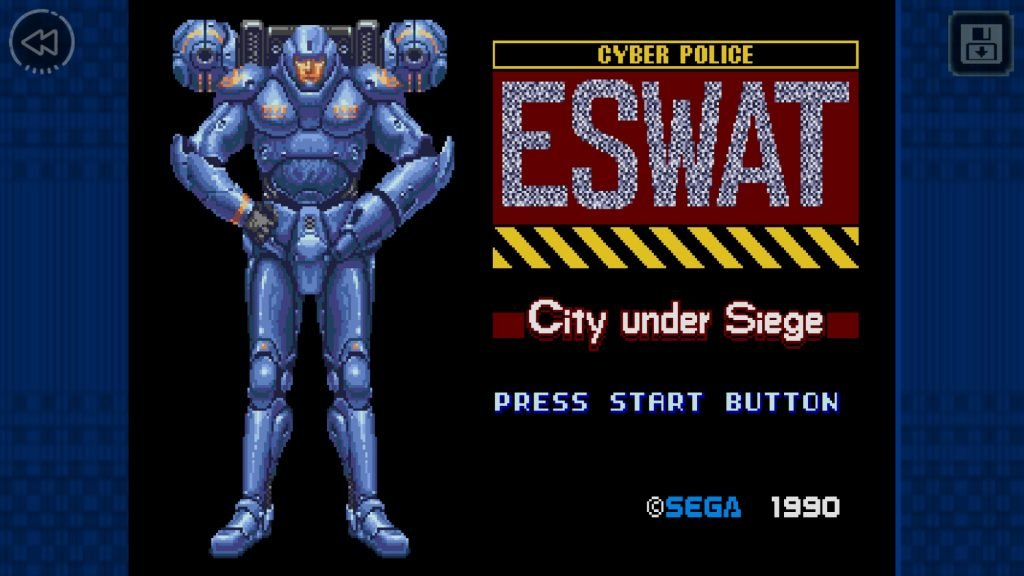 SEGA_Forever_-_ESWAT_-_Screenshot_06_1510071550-1024x576 ESWAT: City Under Siege, jogo do Mega Drive, chega de graça ao Android e iOS