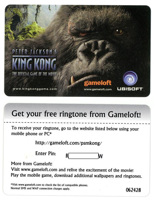 cartao-ringtone-toque-no-celular-gameloft-king-kong 5 curiosidades (uma delas bem safadinha) sobre a Gameloft