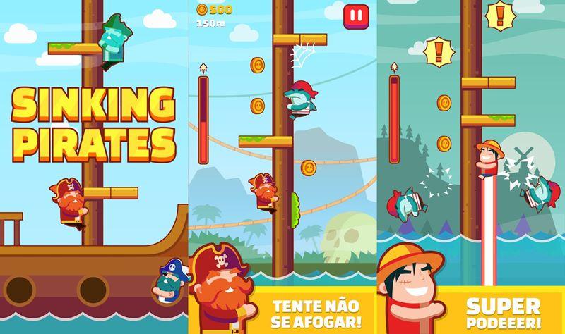 sinking-pirates-android Sinking Pirates refina a fórmula de jogos no estilo Timberman