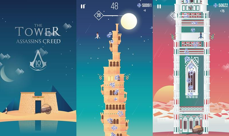 tower-of-assassins-creed-android-ios Jogo de Assassin's Creed da Ketchapp e Ubisoft (Android e iOS)