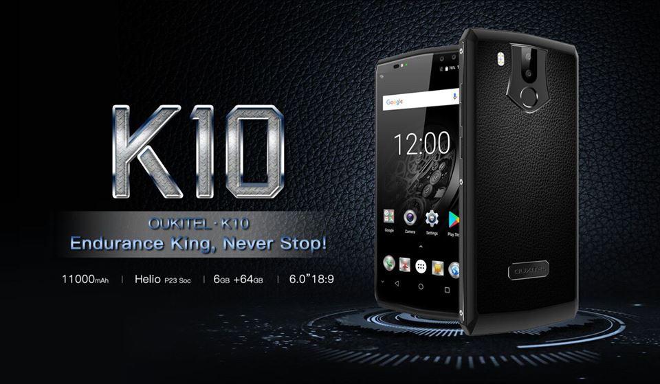oukitel-k10 Oukitel prepara smartphone K10 com bateria de 11.000 mAh