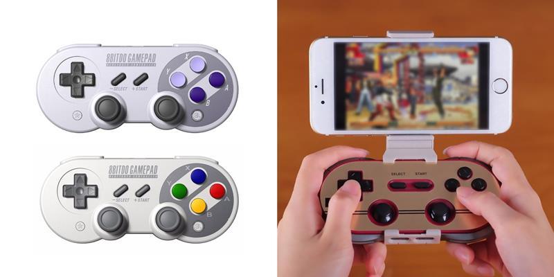 controles-para-iphone-8bitdo-sf30-f30 Veja os Melhores Gamepads (Controles) para iPhone e iPad
