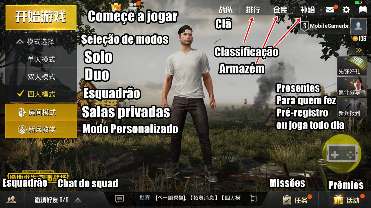 traducao-menus-pubg-mobile-battlefield PUBG Mobile (Battlefield): Tradução dos Menus e Dicas