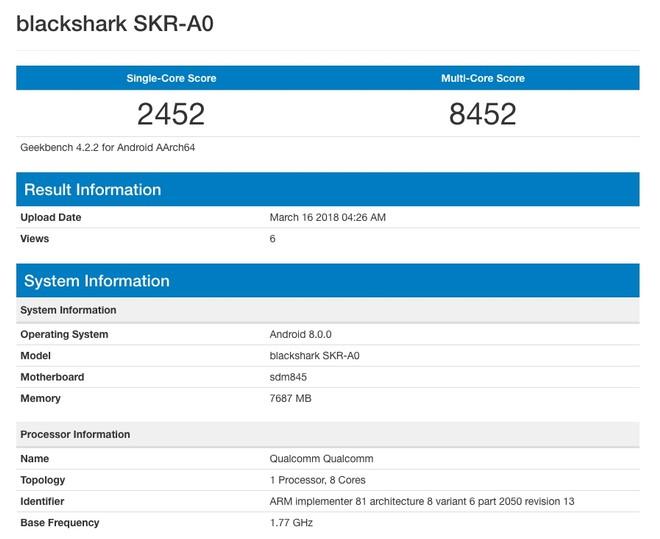 benchmark-blacksark-xiaomi Tudo pronto para o anúncio do celular gamer da Xiaomi (BlackShark)