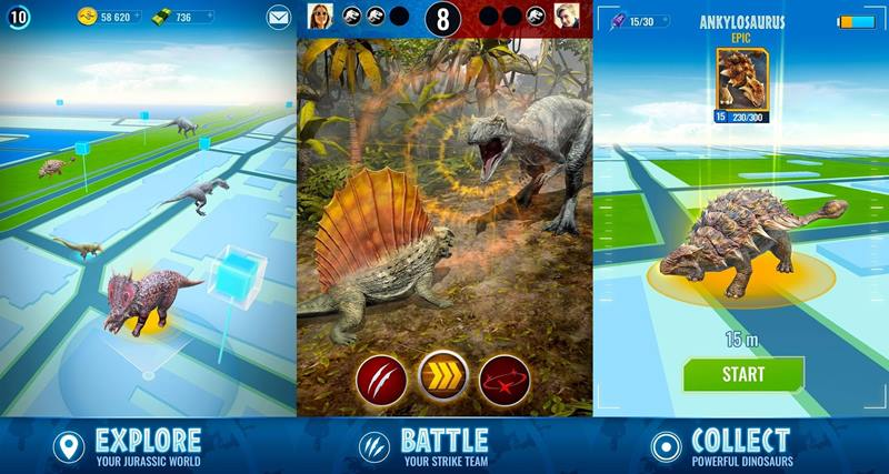 jurassic-world-alive-android-iphone Jurassic World Alive: novo jogo no mesmo estilo de Pokémon GO