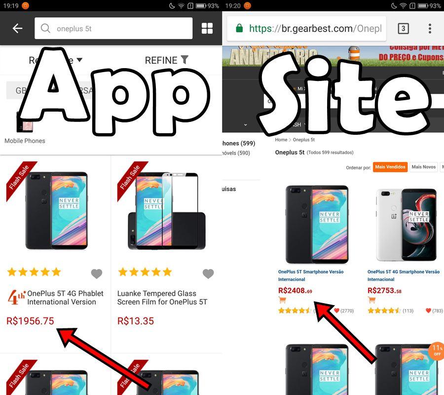 oneplus-5t-mais-barato-no-app-gearbest Dica: compre smartphones mais baratos pelo app da GearBest
