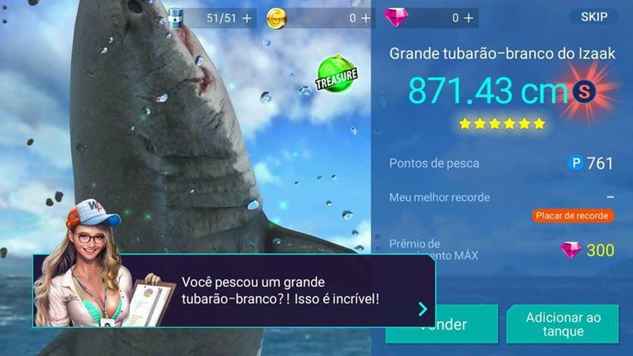 Fishing-strike-android-ios-1 Fishing Strike é um Jogo de Pesca com Tubarões Gigantes e Decotes