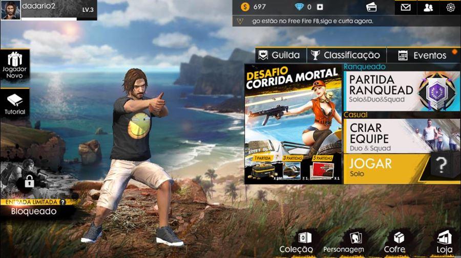 free-fire-atualizacao-android-iphone Free Fire adiciona o modo Corrida Mortal em nova atualização