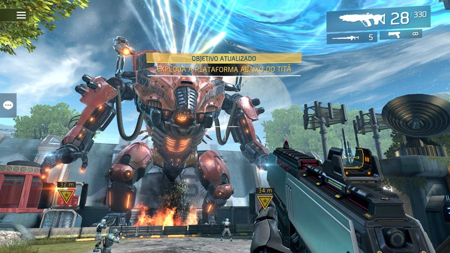 shadowgun-legends-graficos Review: Shadowguns Legends (Android e iOS)