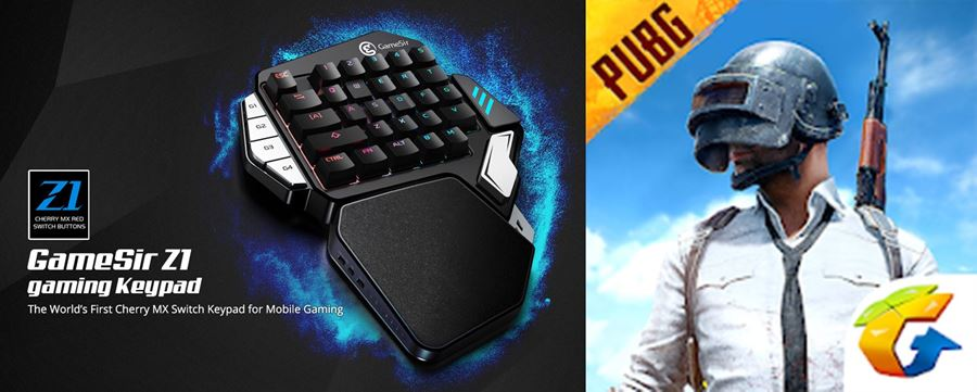 teclado-gamesir-z1 GameSir lança o Z1, teclado gamer para celulares e tablets