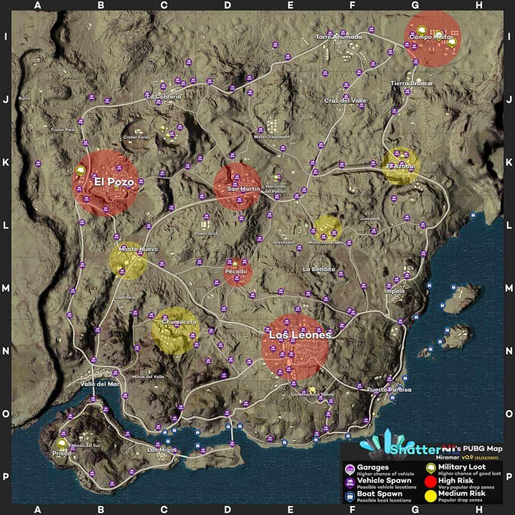898402255_preview_ShatterNLs-PUBG-Map-v0.9-Miramar-1024x1024 PUBG Mobile: Tudo sobre atualização 0.5.0 (Android e iOS)