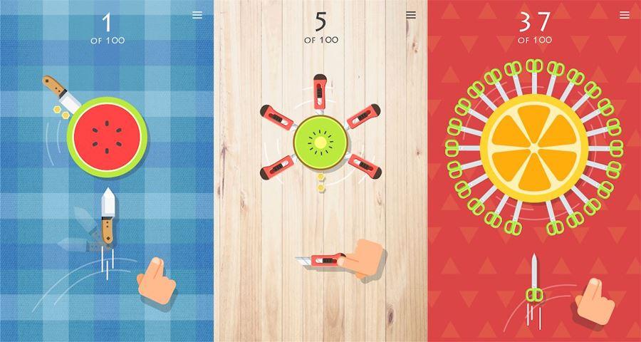 Knife-vs-Fruit 25 Melhores Jogos para Android Grátis - 2018 - parte 1