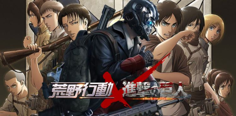 Knives-Out-x-Attack-on-Titan Knives Out terá conteúdo de Attack on Titan no Japão
