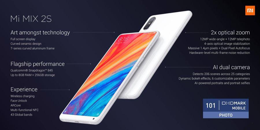 mi-mix-2s 7 Melhores Smartphones Chineses para Jogos de 2018 (tops de linha)