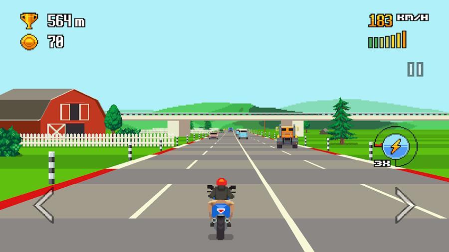 retro-highway-android-2 10 Melhores Jogos de Corrida para Android e iPhone de 2018