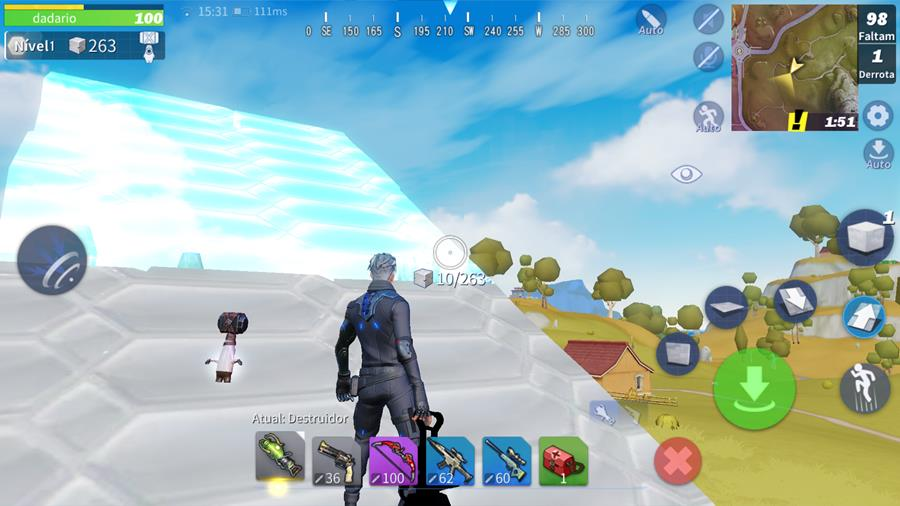Creative-Destruction-ex-fortcraft-6 Jogos parecidos com Fortnite para Android