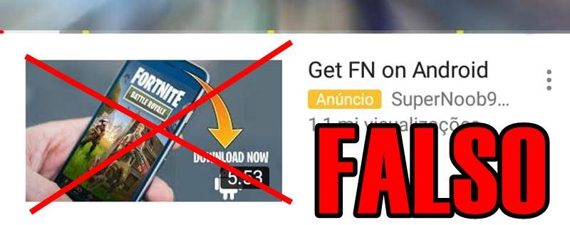 """MALWARE-APK-FAKE-FORTNITE Cuidado! Anúncios de Fortnite no Youtube são """"Malware"""""""