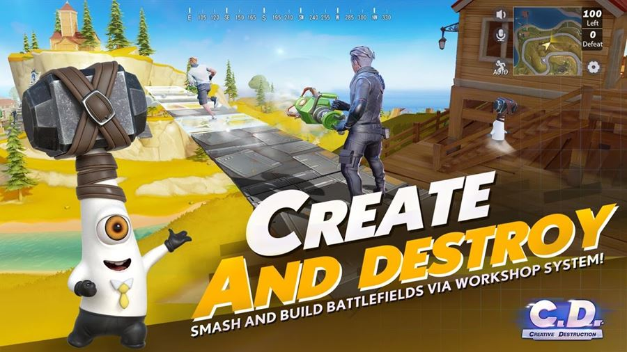 "creative-destruction-android-1 Fortcraft muda de nome e vira ""Creative Destruction"" (Android e iOS)"