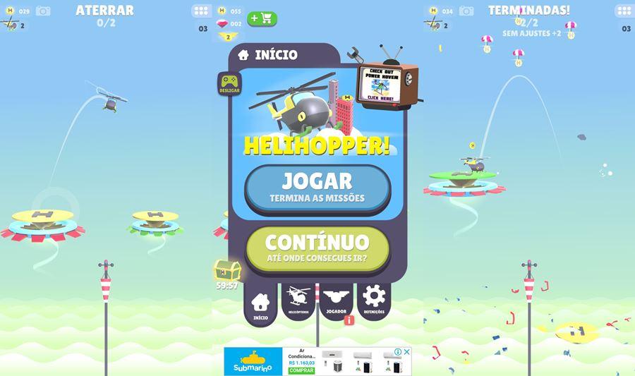 helihopper TOP 25 Melhores Jogos para iPhone e iPad Grátis de 2018 - Parte 1