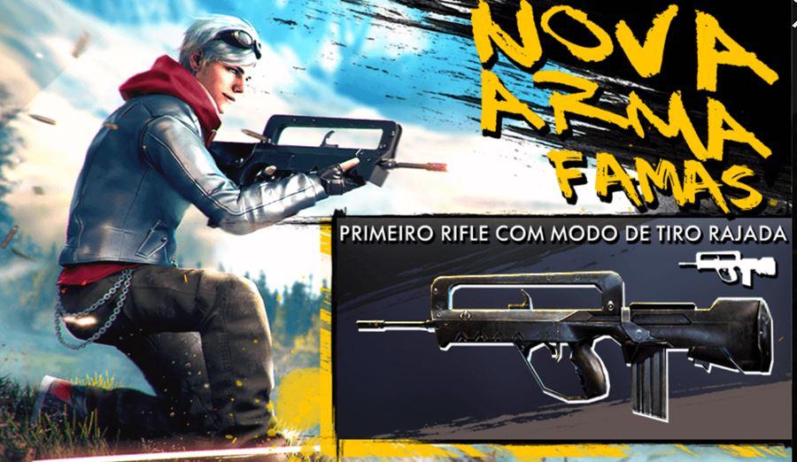 nova-arma-free-fire-rifle-famas Free Fire: conheça a nova arma famas (rifle com tiro de rajada)
