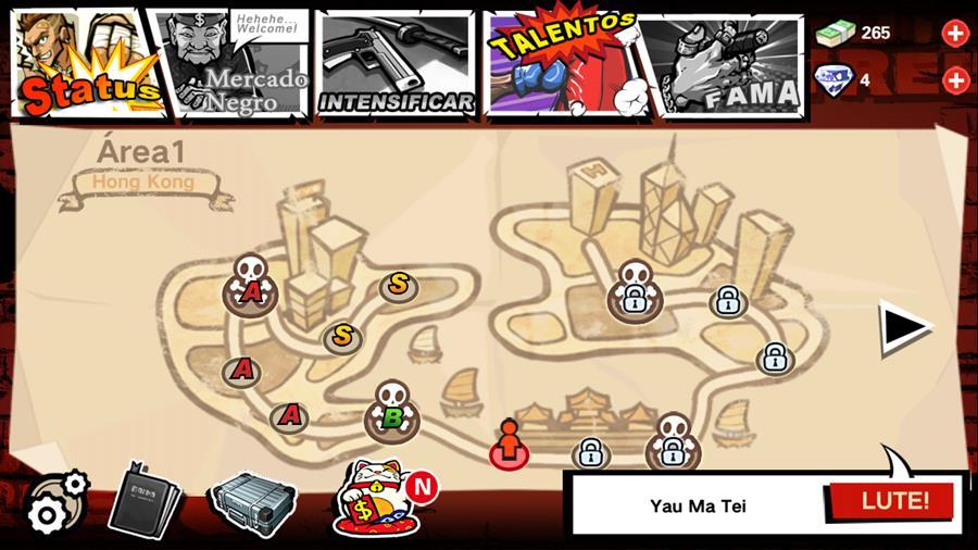 brutal-street-2-3 Brutal Street 2: muita pancadaria neste jogo offline para Android e iOS