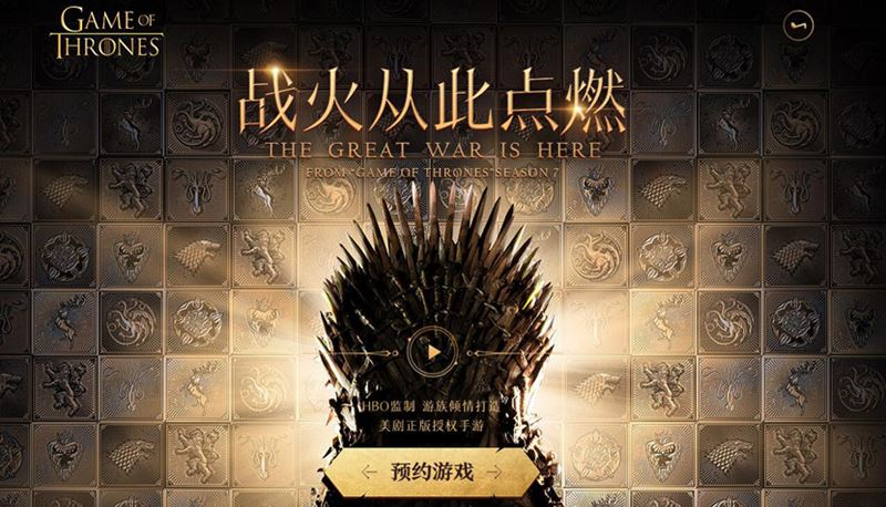 game-of-thrones-tencent Tencent vai publicar novo jogo de Game of Thrones